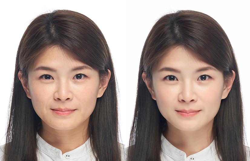 台中韓式證件照推薦空姐面試大頭照求職大頭照南屯證件照快速取件文樂影像